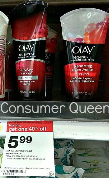 Olay Regenerist Cream Cleanser only $2.55 (reg $5.99) at Target!