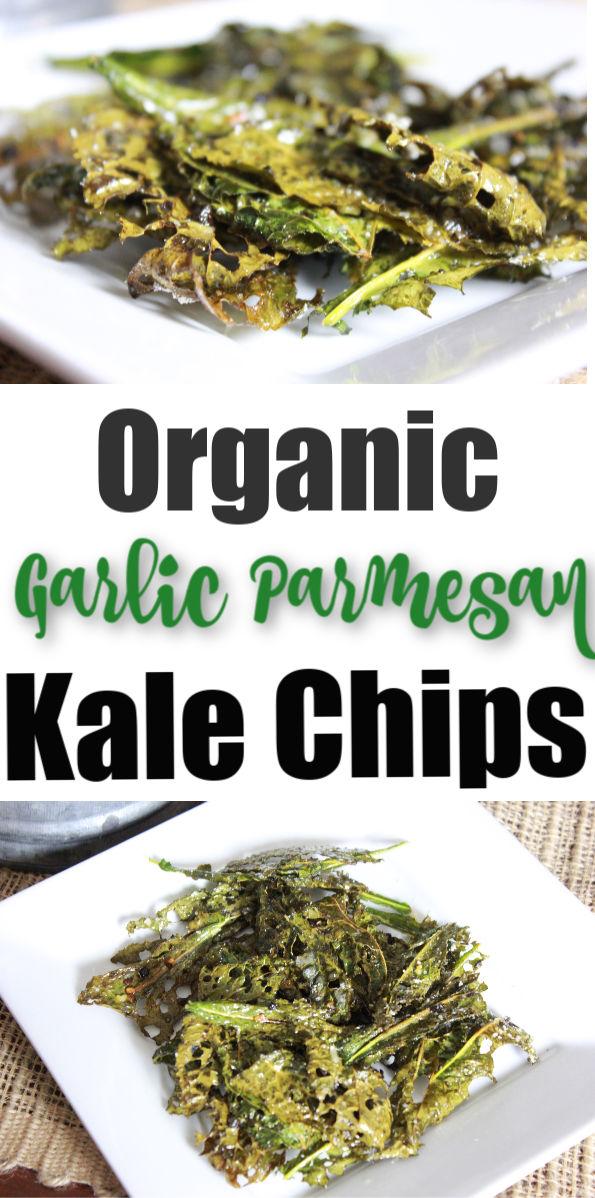 Organic Garlic Parmesan Kale Chips