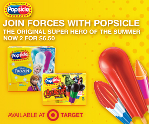 Be a Super Hero with Popsicle Brand and Save at Target