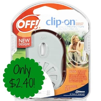 Off! Clip-On Starter Kit only $2.40 (reg $9.59) at Target!