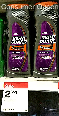 Right Guard Body Wash only 74¢ at Target!