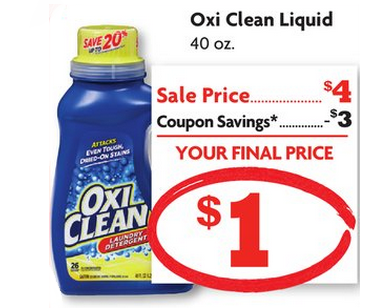OxiClean Detergent ONLY $1.00 at Family Dollar!