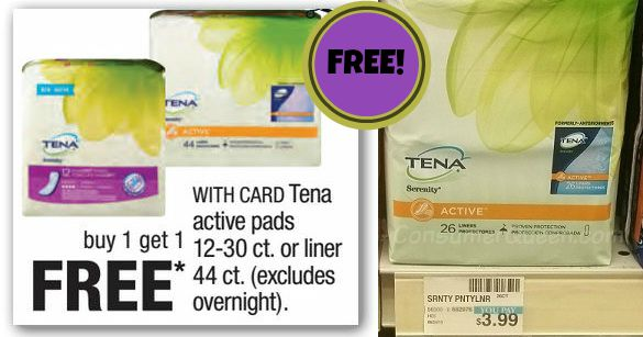FREE Tena Pads at CVS This Week - NEW Coupon!