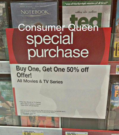 Buy One Movie Get One 50% Off Promotion at Target (Divergent Only $1)!