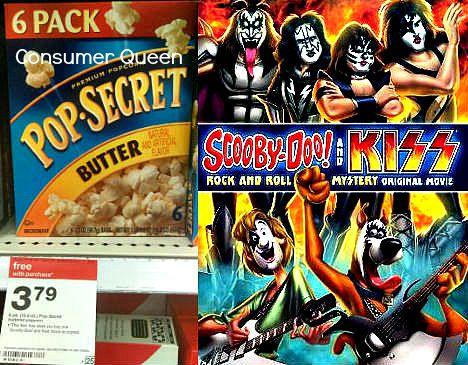 Scooby-Doo & Kiss DVD Only $11.24 (reg $19.98) + 2 Free Pop-Secret Popcorn Boxes!