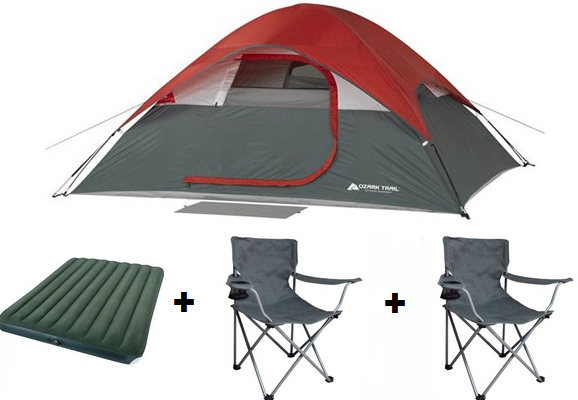 ozark_trail - Copy (2)  sc 1 st  Consumer Queen & Ozark Trail 4 Person Tent With 2 Chairs u0026 Queen Mattress Only $59 ...