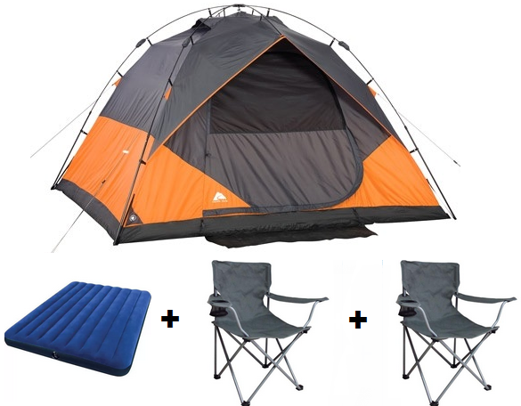 How about this 6 person instant dome tent with 2 chairs and a classic downy queen airbed for only $89.00!  sc 1 st  Consumer Queen : ozark trail tents 4 person - memphite.com