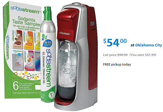SodaStream as Low as $39.00 at Walmart.com (reg.  $99.99!)
