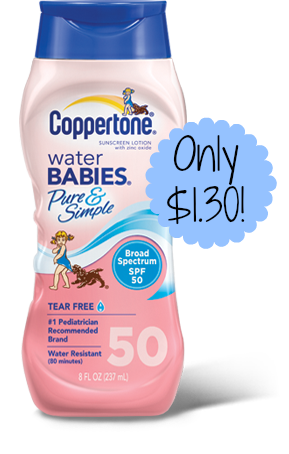 Coppertone Water Babies only $1.30 Each at Target!