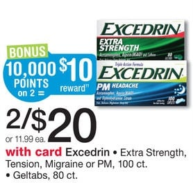 Excedrin FREE plus PROFIT at Walgreens!