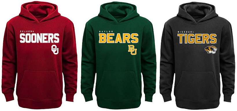 College football hoodies