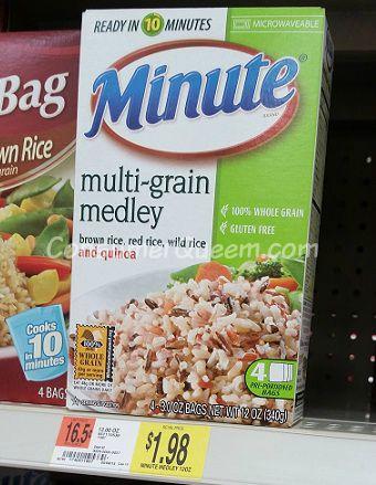 Minute Rice Multi-Grain 59¢ at Homeland, 98¢ at Walmart!