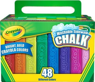 Washable Sidewalk Chalk – 48 Colors ONLY $2.50 With FREE Store Pickup!