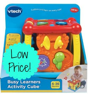 VTech Busy Learners Activity Cube only $9.08 (reg $17.99)!