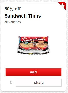 Oroweat Sandwich Thins only $0.95 (reg $2.99) at Target!