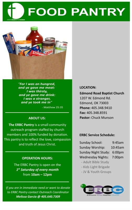 11x17 Food Pantry Flyer