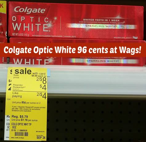 Colgate Optic White Toothpaste 96¢ at Walgreens