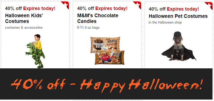 Halloween Costumes & Candy 40% Off at Target – Today ONLY