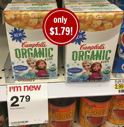 Campbell's Organic Kid's Soup Only $1.79 at Target