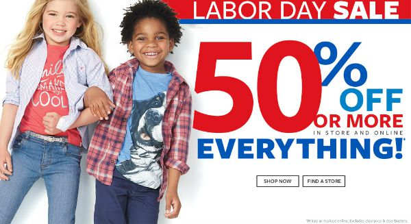 Carter's Labor Day Sale!  Get 50% Or More Off Everything!