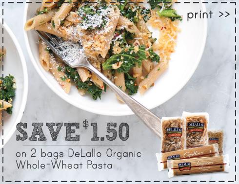 delallo pasta coupon