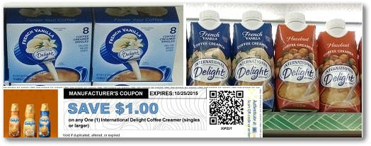 International Delight FREE at Dollar Tree, 39¢ at Homeland, 87¢ at Target