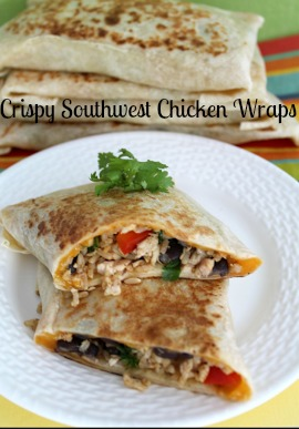 Recipe: Crispy Southwest Chicken Wraps