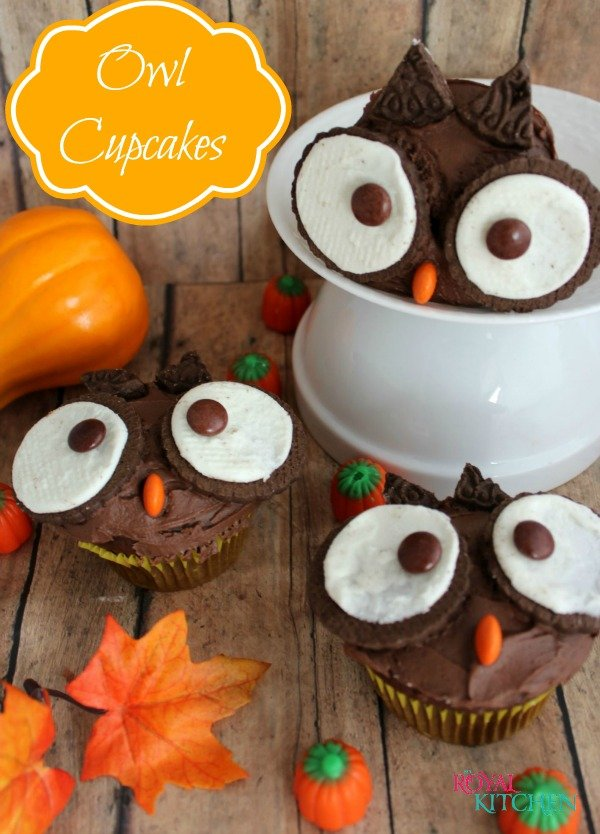 Festive Fall Owl Cupcakes