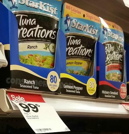 StarKist Tuna Creations  14¢ at Target, FREE at Homeland, 47¢ at Walmart