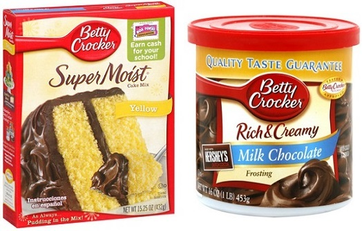 Betty Crocker Cake Mix & Frosting 49¢ Each at Homeland!