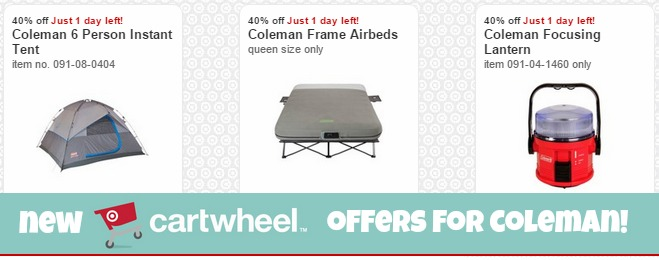 40% Off Coleman Camping Gear With Target Cartwheel – Today ONLY!