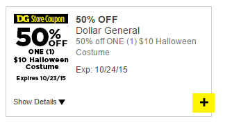 Halloween Costumes - 50% Off ONE at Dollar General