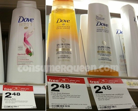 Dove Shampoo & Conditioner at Target – FOUR FREE + Profit!