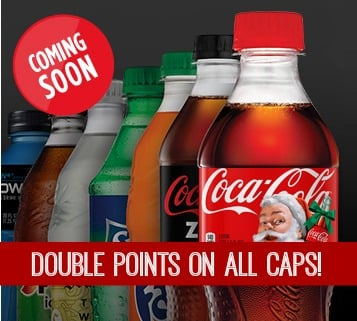 My Coke Rewards – Double Points on ALL Caps Coming