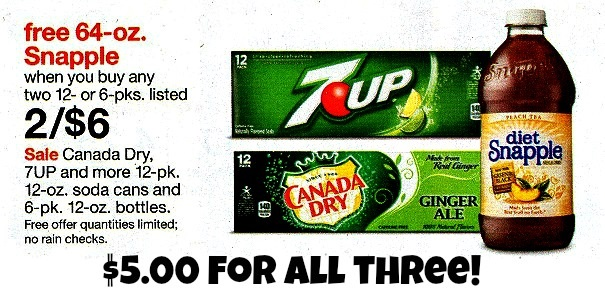 7Up Coupon is back + B2G1 Free Deal at Target
