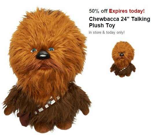 Chewbacca Talking Toy $33.74 (reg. $89.99) Today ONLY!