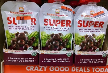 Organic Fruit Pouches 50¢ Each at Big Lots