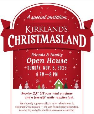 Kirklands Christmasland Open House