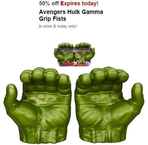Avengers Hulk Gamma Grip Fists $9.99 at Target Today ONLY!