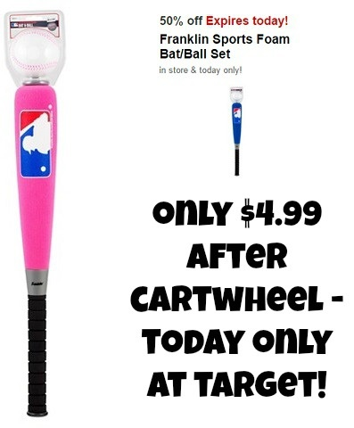 Franklin Sports Foam Bat & Ball $4.99 at Target – Today ONLY