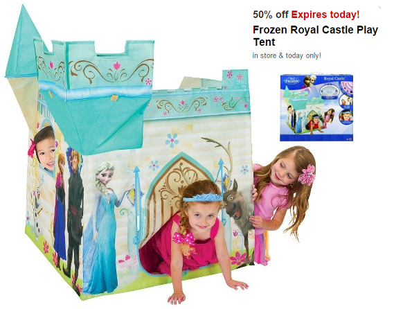 sc 1 st  Consumer Queen & Frozen Royal Castle Play Tent $10.50 at Target (Today ONLY)