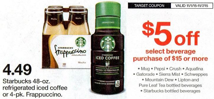 Starbucks Bottled Drinks as Low as 42¢ each at Target