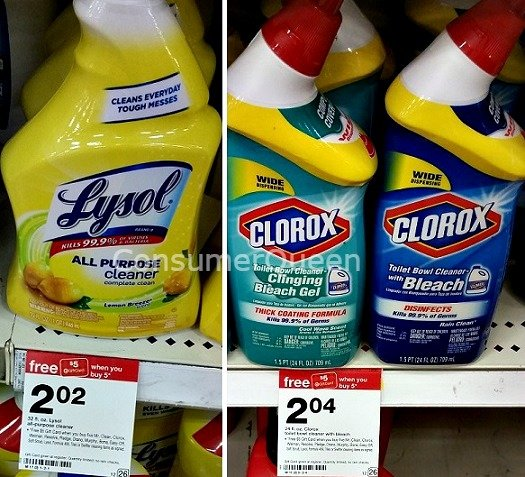 Mr. Clean, Clorox Spray & Lysol Cleaners Under $1.00 at Target!
