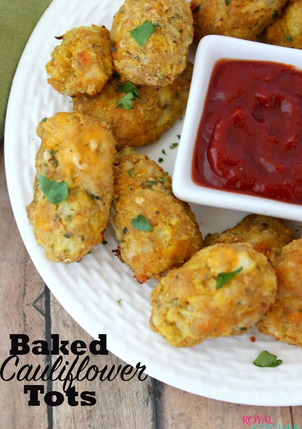 Baked Cauliflower Tots Recipe