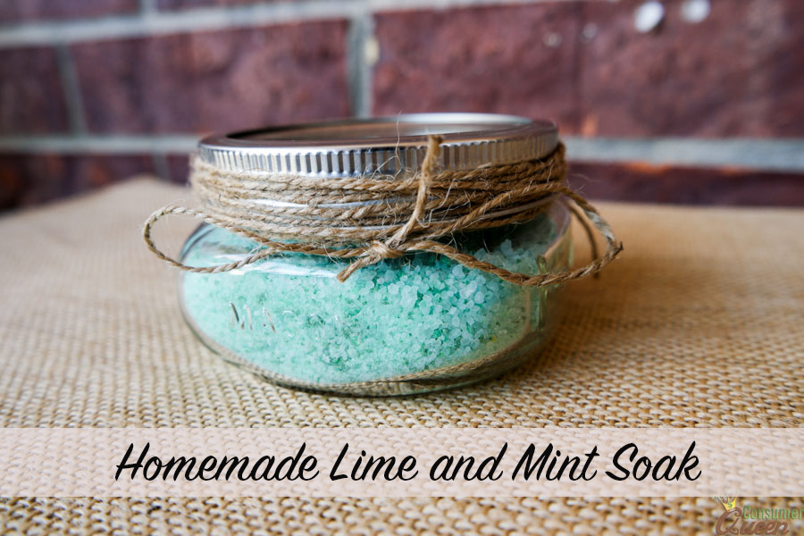 Homemade Lime and Mint Soak