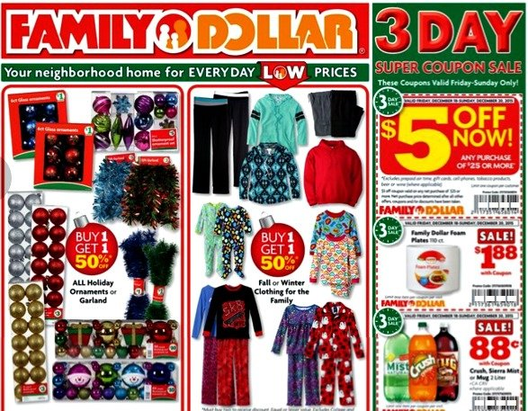 Family Dollar Matchups 12/15 – 12/20