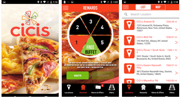 FREE Pizza at CiCi's (or Adult Buffet) When You Download App