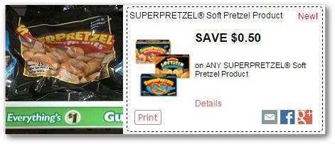 New SuperPretzel Coupon: 50¢ Pretzel Bites at Dollar Tree!
