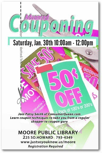 Advanced Coupon Class at the Moore Library 1/30!