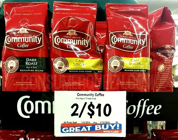 Community Coffee Bags or K-Cups ONLY $3.00 at Homeland!